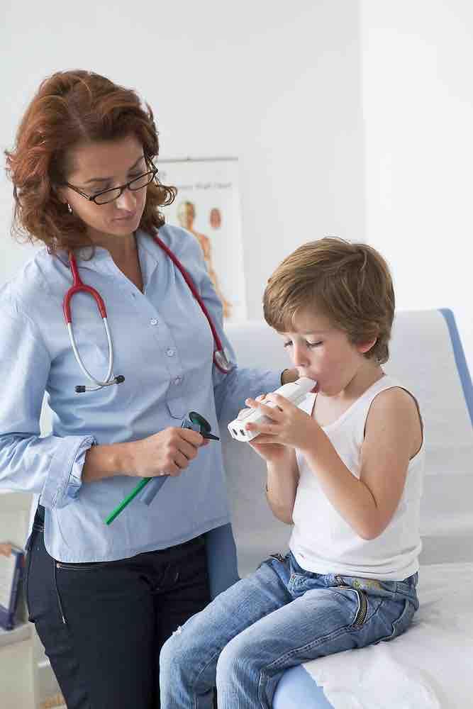 Asma entre los 4 y los 14 años