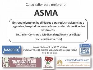 Taller para mejorar el control del asma en Madrid