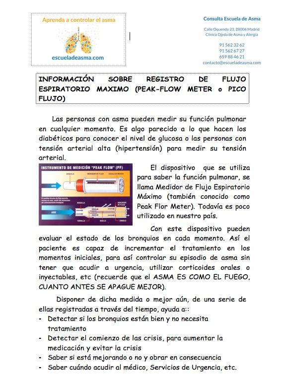 Información del medidor de función pulmonar (escueladeasma.com)