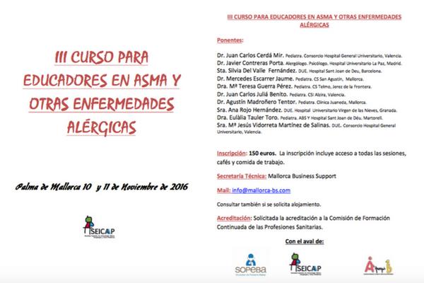 III Curso para Educadores en Asma y  Otras Enfermedades Alérgicas