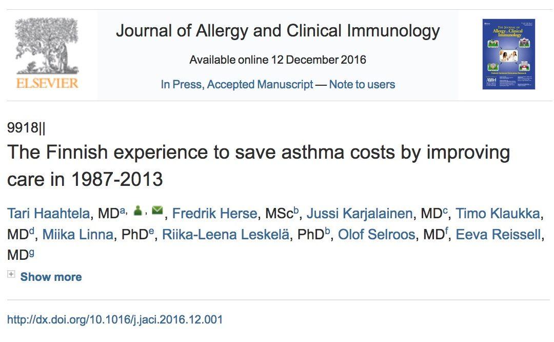 Éxito del programa de asma finlandés