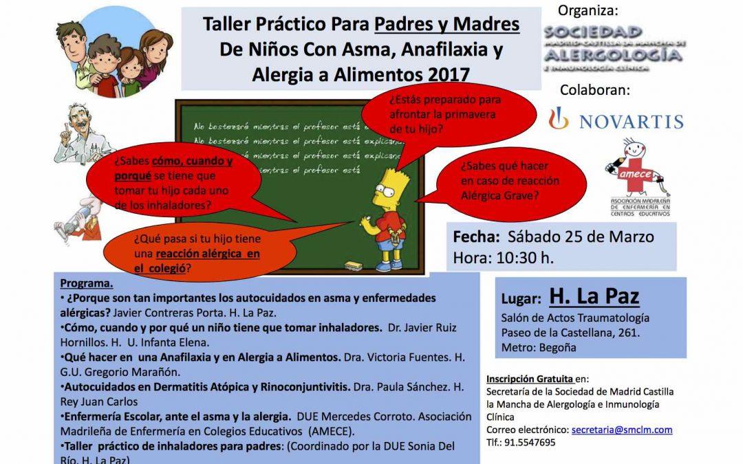 Taller de asma infantil, alergia alimentaria y dermatitis atópica (Madrid, Marzo-2017)