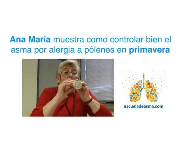 ¿Cómo mejorar el control del asma primaveral? Ana nos cuenta cómo se las arregló.