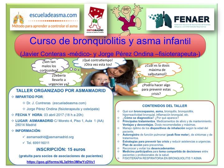 Curso de asma infantil en Abril de 2017