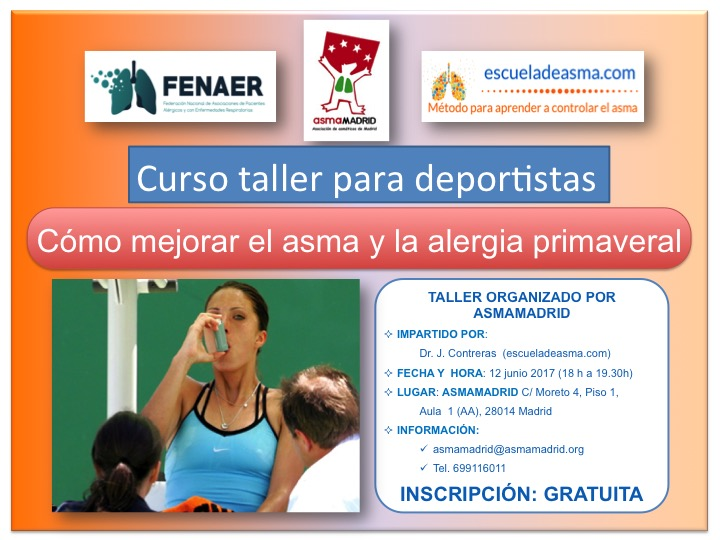 Curso para mejorar asma y alergia primaveral para deportistas