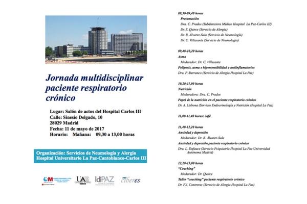 Jornada multidisciplinar del paciente respiratorio crónico (11 de mayo de 2017)
