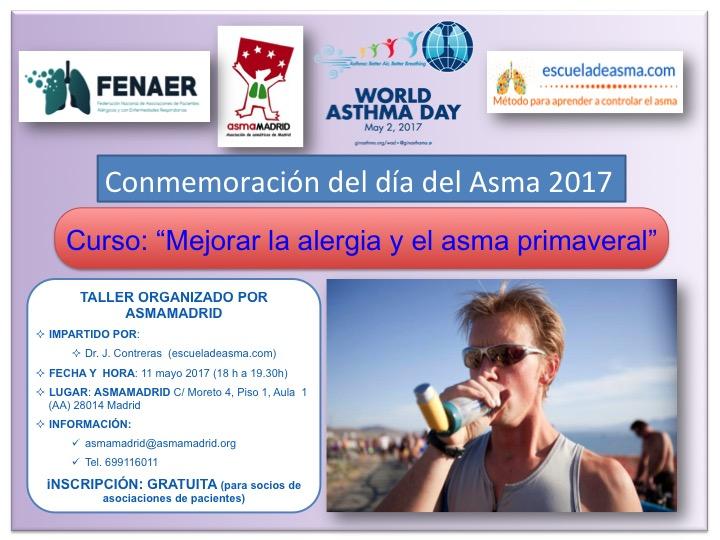 Curso para mejorar la alergia y el asma primaveral