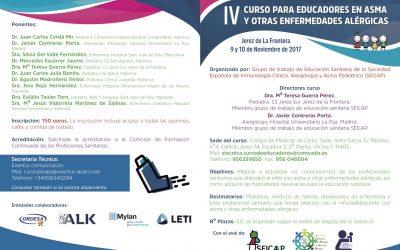 Curso para educadores en asma y otras enfermedades alérgicas (Noviembre 2017)