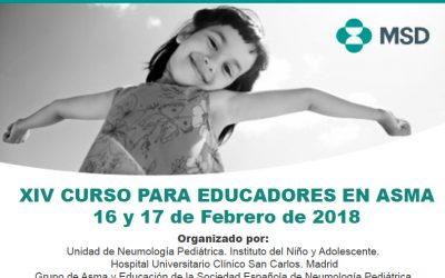 Curso para Educadores en Asma (16 y 17 Febrero 2018)