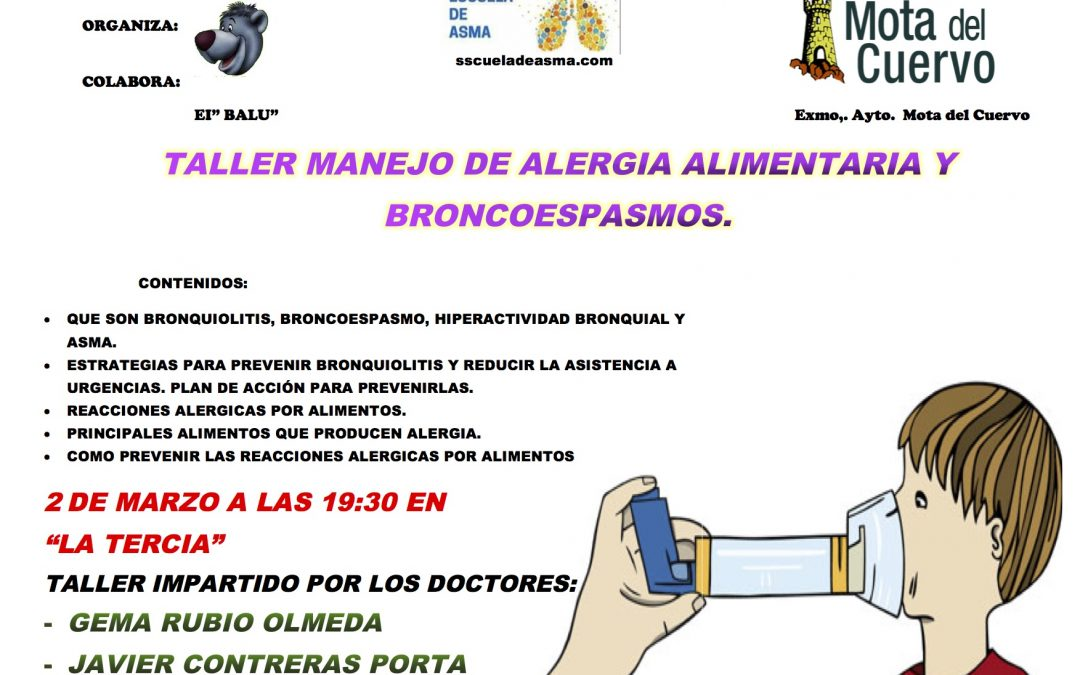Taller de manejo de alergia alimentaria y broncospasmos en Mota del Cuervo