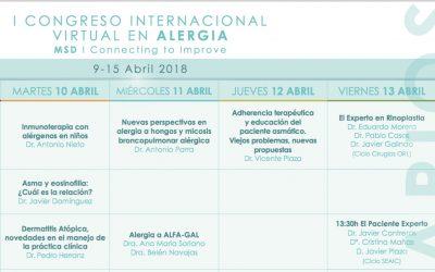 El Paciente Experto en el I Congreso Iternacional Virtual en Alergia (MSD-2018)