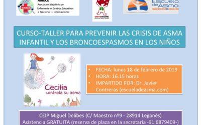 Taller para prevenir crisis de asma y broncospasmos en niños (Febrero-19)