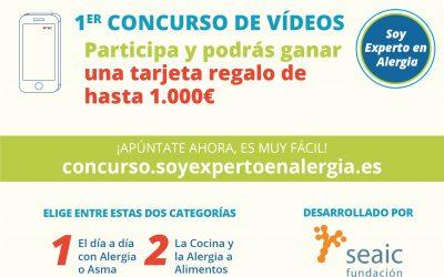 """Participa en el 1º concurso de vídeos de """"Soy Experto en Alergia"""" y gana una tarjeta de regalo de €1000"""