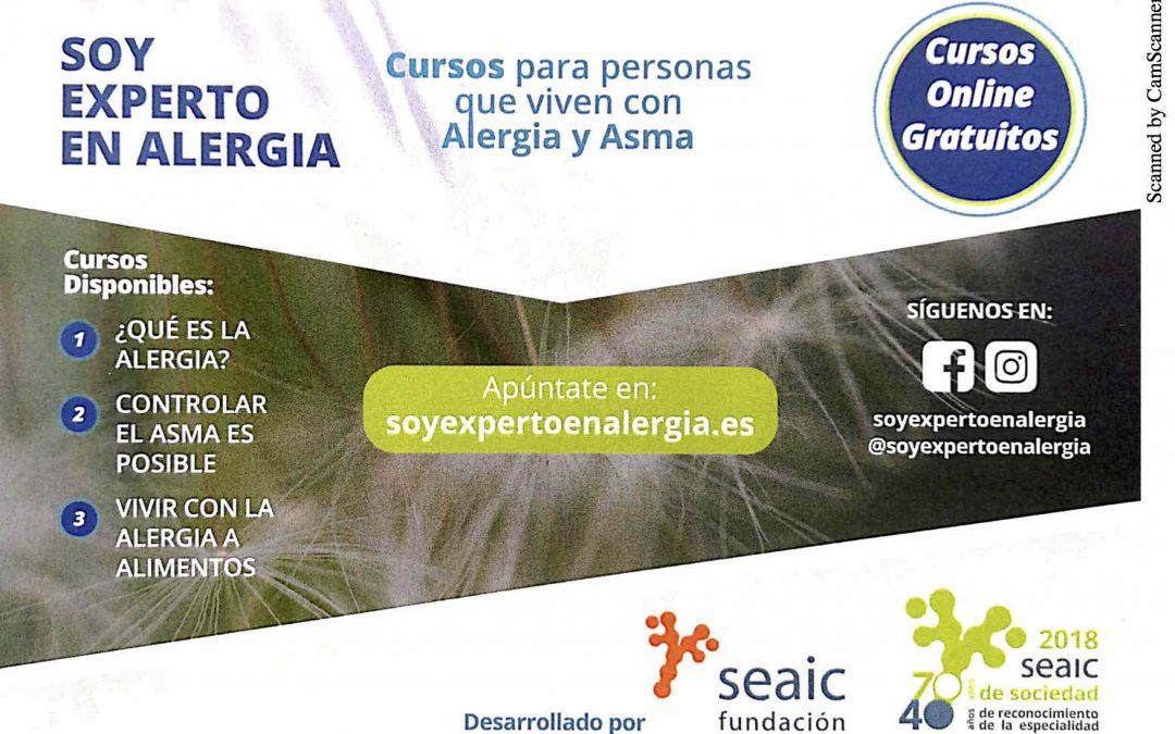 Cursos para formación de pacientes expertos en enfermedades alérgicas y asma