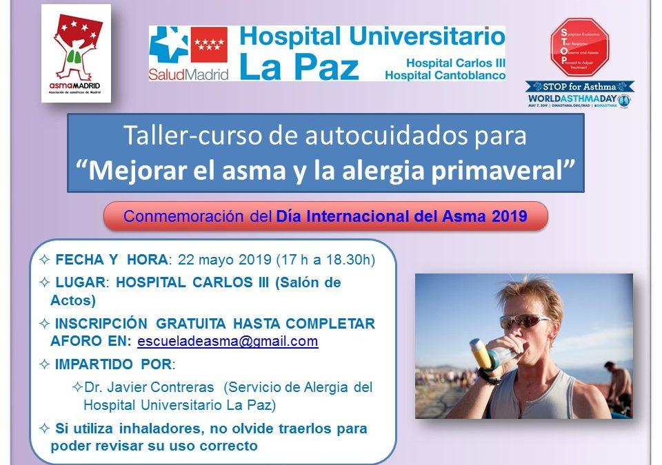 Taller para mejorar la alergia y el asma primaveral en Mayo-2019 (Madrid)