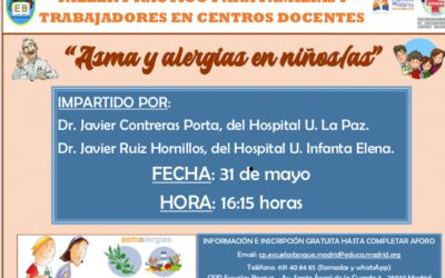 Taller para familias de niños con asma o alergia (CEIP Escuelas Bosque)