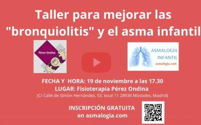 """Taller para mejorar los """"broncoespasmos"""" y el asma infantil en Noviembre-19"""