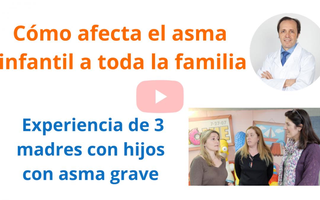 """Experiencias de 3 madres de niños con """"broncoespasmos"""" por asma grave de difícil control"""