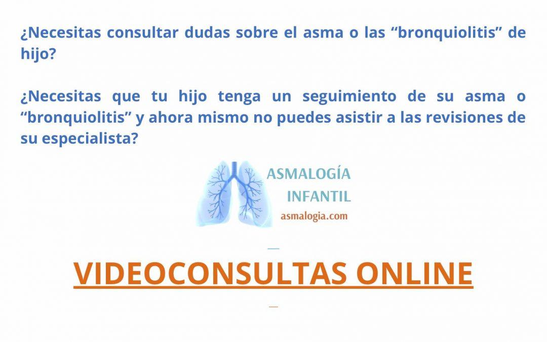 Videoconsultas para niños con asma