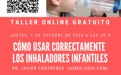 TALLER  ONLINE GRATUITO SOBRE MANEJO DE INHALADORES EN ASMA INFANTIL