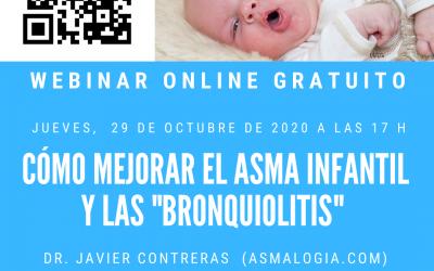 """WEBINAR: MEJORAR EL ASMA INFANTIL Y LAS """"BRONQUIOLITIS"""" (22-10-2020)"""