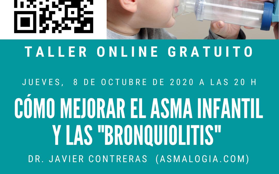 """TALLER PARA MEJORAR EL ASMA INFANTIL Y LAS """"BRONQUIOLITIS"""""""