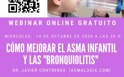 """WEBINAR: MEJORAR EL ASMA INFANTIL Y LAS """"BRONQUIOLITIS"""""""