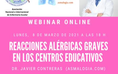 Reacciones alérgicas graves en los centros educativos (WEBINAR AMECE-ASMALOGÍA)